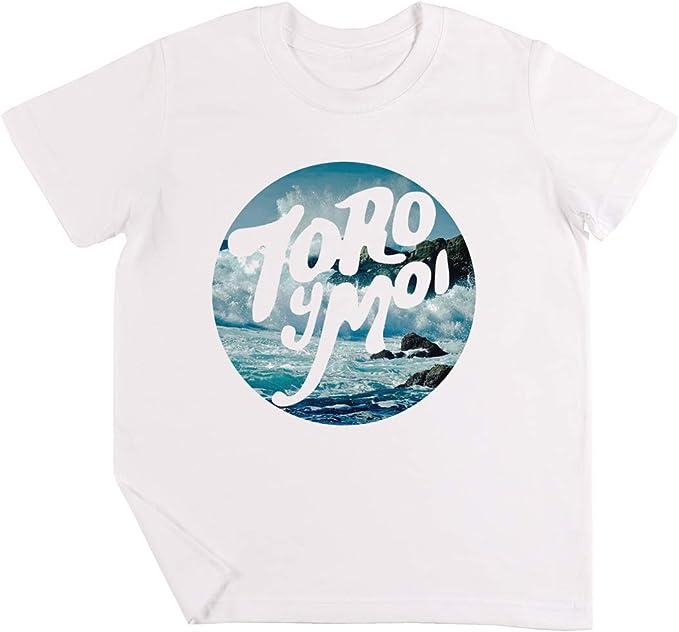 Toro Y Moi Playa Logo Niños Chicos Chicas Unisexo Camiseta Blanco: Amazon.es: Ropa y accesorios