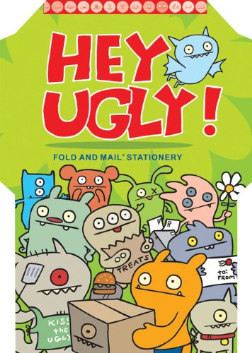 Hey Ugly: Fold and Mail Stationery