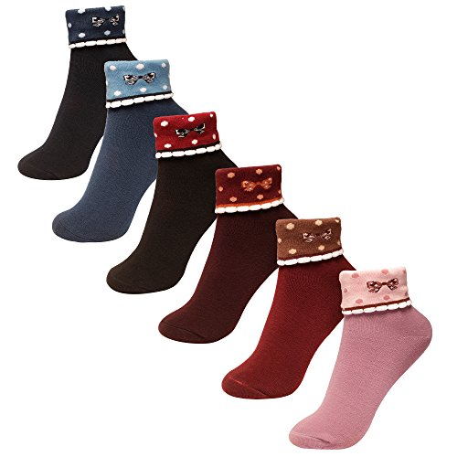 6-Pairs-Colorful-Fun-Patterned-Cute-Dress-Women-Cotton-Crew-Socks