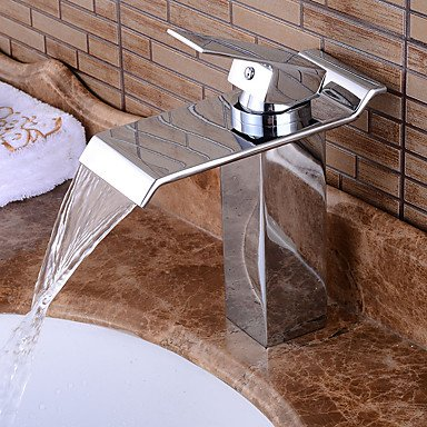 58 x 8 cm Bathroom Sink Faucet in Contemporary Style Single Handle One Hole Hot and Cold Water Faucet,58 x 8 cm