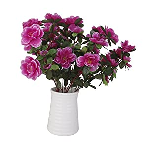 MagiDeal 2 Bunches Fake Azalea Artificial Flowers Bouquet Wedding Home Decor Purple 104