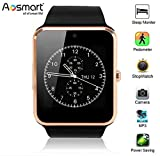 Bluetooth Smart Watch, Aosmart G88 Smartwatch for Android Smartphones (Gold)