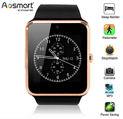 Bluetooth Smart Watch, Aosmart G88 Smartwatch for Android Smartphones (Gold) by Aosmart