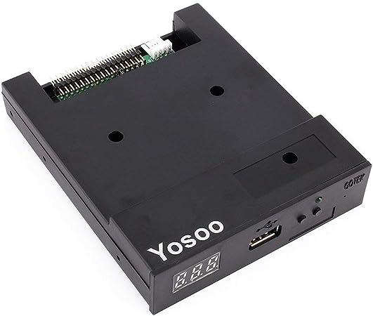 SFR1 M44-U100 K- Emulador de disquetera USB para Equipo Industrial Disquetera Externa con USB 3,5´´, Color Negro