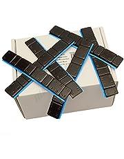 25 bars zwart balanceergewichten 5 g * 4 + 10 g * 4 kleefgewichten lijm strips