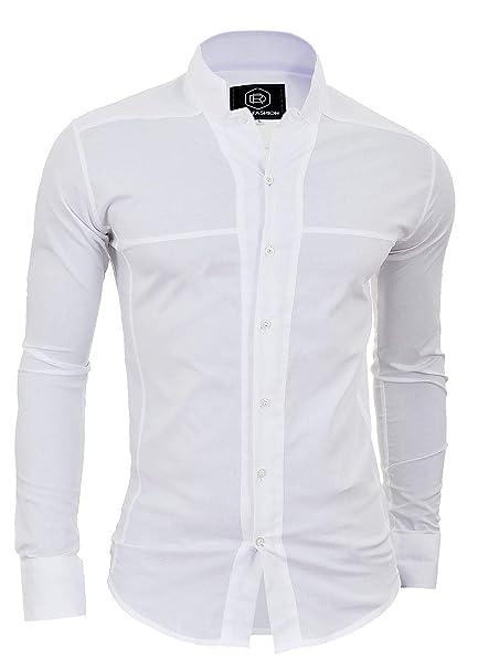 Venta de liquidación marca popular nuevo concepto Camisa de Sin Cuello Mao para Hombre Manga Larga Formal ...