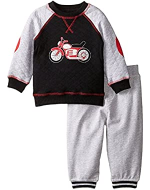 Baby Boys' Motorcycle Quilted Pant Set