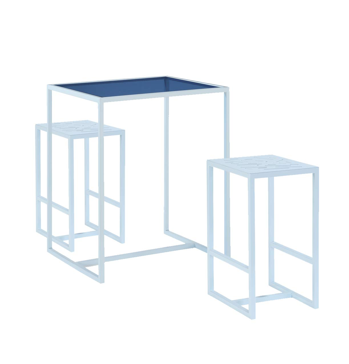 Now House by Jonathan Adler Vally Bistro Dining Table Set, Blue