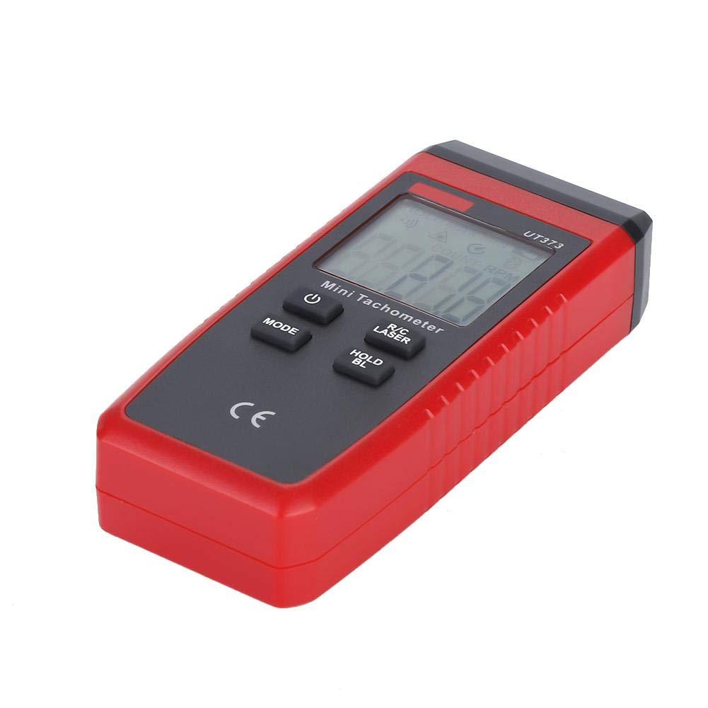 Non-Contact Tachometer Walfront UNI-T UT373 Mini Non-Contact Digital La-ser Tachometer LCD Display 10-99999RPM Accuracy Tach Speed Meter