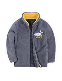Canvos Baby Boys Fleece Jacket Little Kids Warm Coat Outerwear
