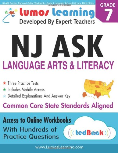 Download NJ ASK Practice Tests and Online Workbooks: Grade 7 Language Arts and Literacy, Third Edition: Common Core State Standards, NJASK 2014 PDF Text fb2 ebook