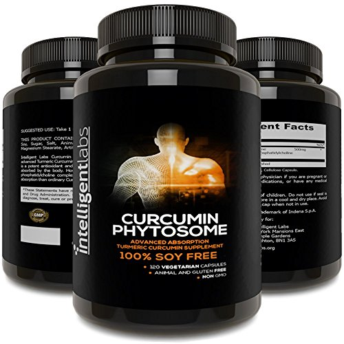 250MG Meriva Curcumin Phytosome, 2900% More Better Absorbed Than Ordinary Turmeric Curcumin 100% Soy Free, 120 Capsules Per Bottle, Tumeric Curcumin Phytosome Complex