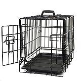 OxGord 51cm Small Dog Crate, Single-Door Folding Metal w/ Tray 51 x 33 x 41cm (LxWxH) 2017 Newly Designed Model