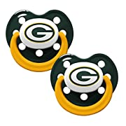 NFL Football 2014 Baby Infant Pacifier 2-Pack - Pick Team (Green Bay Packers - Holes)