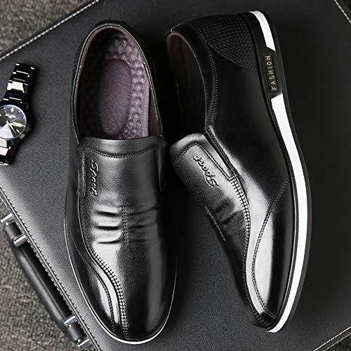 LOVDRAM Schuhe Schuhe Schuhe Herren Frühlingsleder Herren Freizeitschuhe Set Fuß Runde Kopf Einzelne Schuhe EIN Pedal Faule Schuhe  0ef837