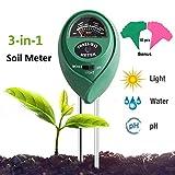 Adorma Soil pH Meter, 3-in-1 Soil Test Kit for Moisture,Light&pH Meter,Gardening Tool Kits, Great for Garden, Plants,Lawn, Farm,Indoor & Outdoor (10 Free Bonus Garden Labels,Green)