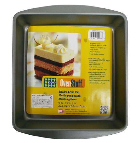 Mainstays Non-stick 9'' X 9'' X 2'' Square Cake Pan by Mainstay (Image #1)