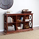 Belham Living Hampton TV Stand Bookcase – Cherry
