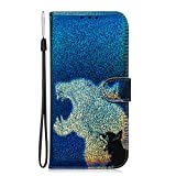 Lomogo Leather Wallet Case for LG K50 / LG Q60 with Stand Feature Card Holder Magnetic Closure, Shockproof Flip Case Cover for LG K50 / LG Q60 - LOTXI150668 L7