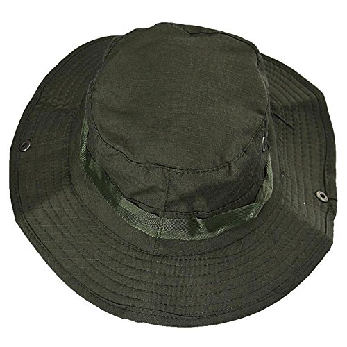[Cap ,BeautyVan Vintage Hat Boonie Hunting Fishing Outdoor Wide Brim Military Cap (A)] (Military Style Dance Costumes)