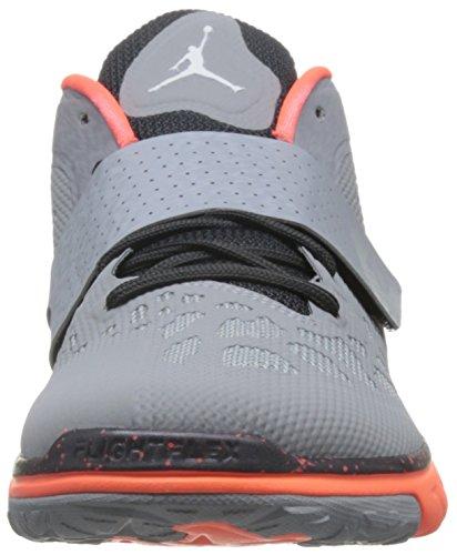 Nike Jordan Flex Volo Trainer 2, Herren Basketballschuhe Gris / Blanco / Naranja (wlf Gry / Bianco-mtlc Hmtt-hypr O)