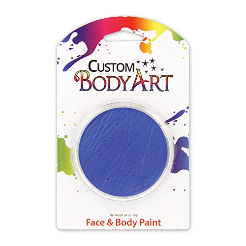 Custom Body Art LARGE 18ml Face Paint Color Single Colors 1-each (Blue) - Great for Parties, Halloween & Birthdays