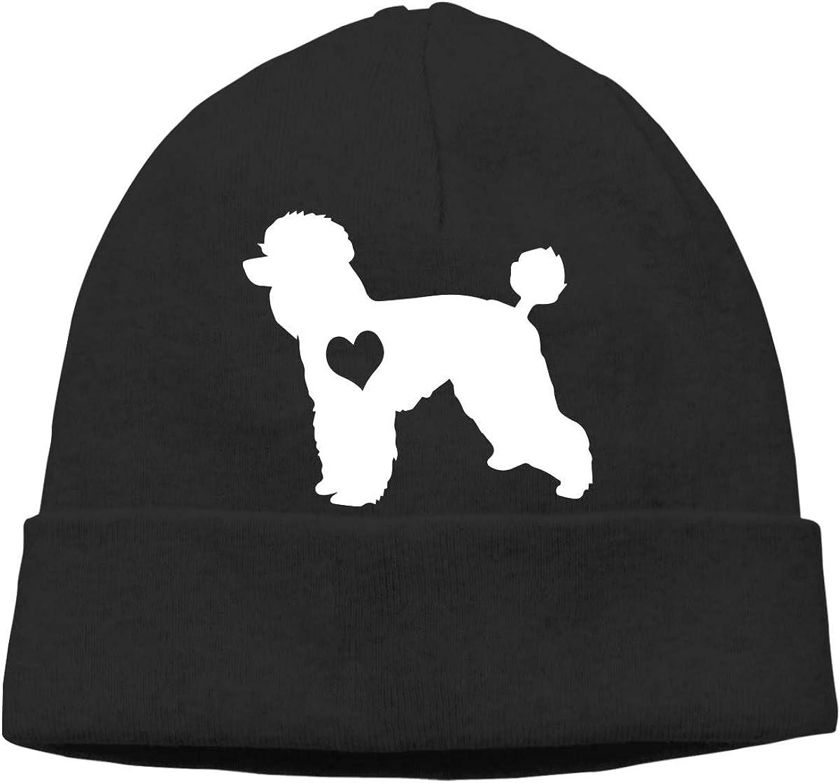 GDSG5/&4 Poodle Dog Heart Men//Women Baggy Running Beanie Skull Cap