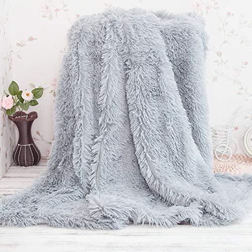 SearchI Franela Manta de Forro Polar Acogedor Sofa Cama de Color Solido Manta Viaje para Salon Habitacion Coche Manta de Microfibra, Franela Sin Pelusa (Gris, 130 x 160 cm)