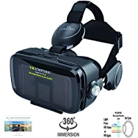 VR EMPIRE 3D VR Headset With Wireless Remote Controller; Anti-Blue-Light Lenses; 120° FOV; Stereo Headset; Virtual Reality Glasses VR Goggles Fit For 4.0-6.2 inch Smartphone from Fortune Group