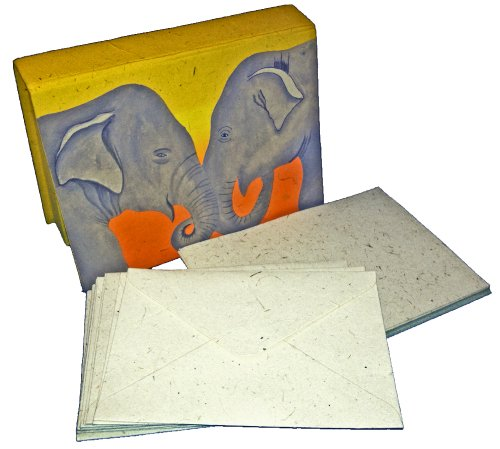 Mr. Ellie Pooh Yellow Elephants Boxed Stationery Set (130-852668979897) by Mr. Ellie Pooh (Image #1)