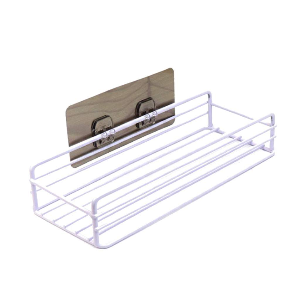Meidexian888 Wall-Mounted Storage Rack, Home Bathroom Finishing Storage Rack Square Reinforcement is Strong and Seamless (White) by Meidexian888