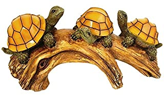 Moonrays 91515 Solar-Powered Outdoor LED Light Garden Décor, Beautifully Painted Polyresin Turtles on a Log, 3 Amber LEDs (B00352LT50) | Amazon price tracker / tracking, Amazon price history charts, Amazon price watches, Amazon price drop alerts