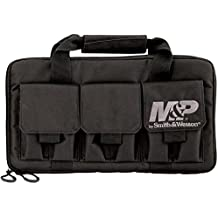 M&P by Smith & Wesson  Pro Tac Double Handgun Case Padded Pistol Bag for Hunting Shooting Range Sport