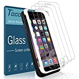 [3 Pack] Tocol for iPhone 6 and iPhone 6s Screen Protector,[Alignment Frame Easy