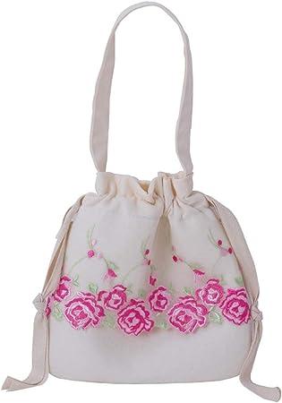 YiCanG Bolsa de Encaje - Bolsa de Lona, se Puede Cargar con Las Necesidades diarias de algodón/Tela de la Buena sensación de 22 * 22CM Bolsas de Regalo: Amazon.es: Hogar