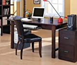 Coaster Contemporary Home Office Writing Desk with Large Post Legs