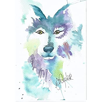 Wolf Blank Note Cards: 6 Artistic All Occasion Watercolor Cards, with Envelopes - The Wolf