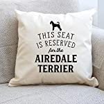 Affable Hound Reserved for The Airedale Terrier - Cushion Cover - Dog Gift Present 6