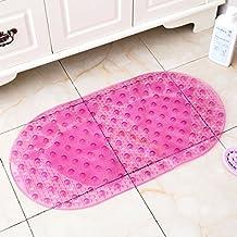 Foot bath bath mat toilet with suction cup mat shower bathroom mats -37.8*36.5cm Oval transparent powder