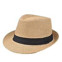 Yonger Mens   Ladies - Traditional Panama hat Sun Hat - Trilby Style Summer Hat  Sun 69753837890d