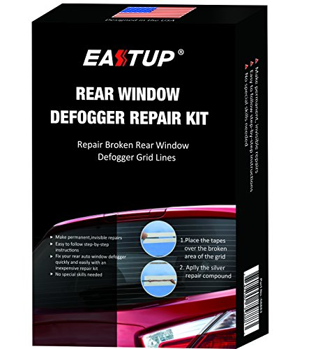 Eastup Rear Window Defogger Defroster Repair Kit Fix Broken Grid Lines Just Two Steps No Professional Skills Needed (Defroster Kit)