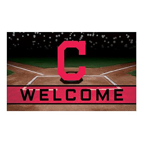FANMATS 21916 Team Color Crumb Rubber Cleveland Indians Door Mat