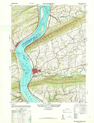 Pennsylvania Maps | 1947 Millersburg, PA USGS Historical Topographic Map |Fine Art Cartography Reproduction (Millersburg Pa)