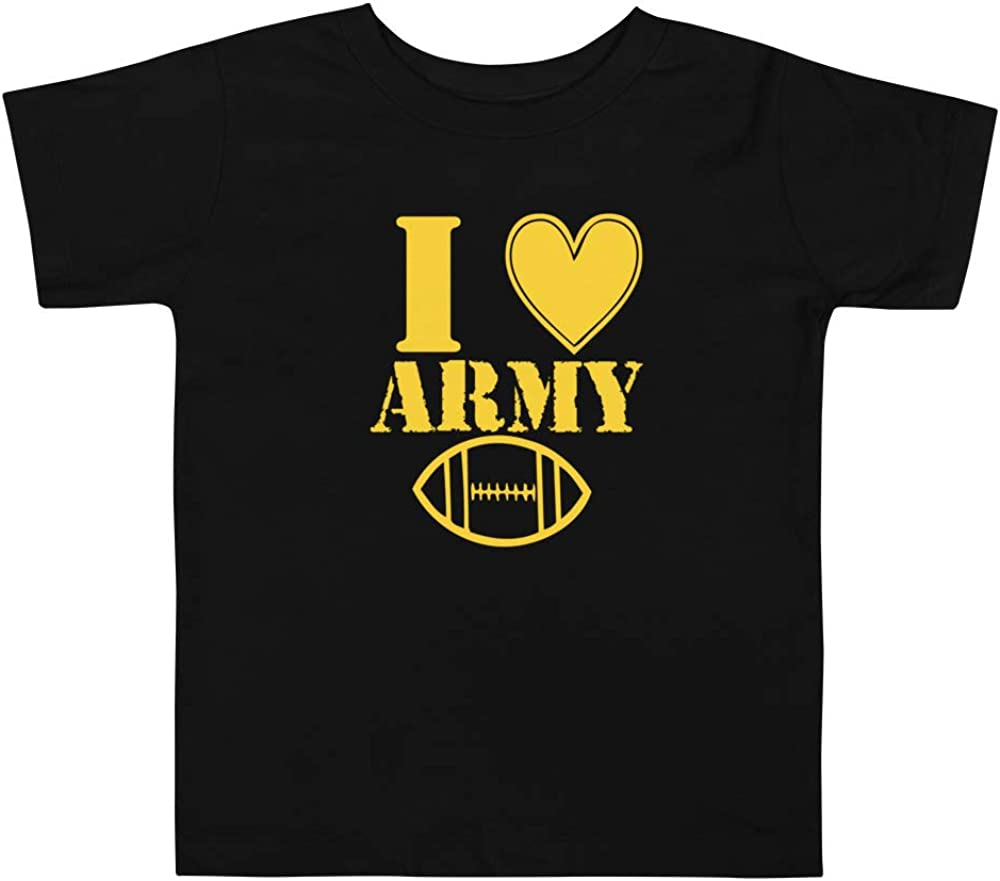 Rearguard Designs Toddler I Love Army Football Short Sleeve Tee