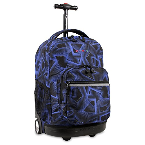 J World New York Sunrise Rolling Backpack, ()
