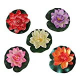 10pcs of 4 Inches Floating Flower,Waterproof Lotus Flower For Wedding Aquariums Decoration