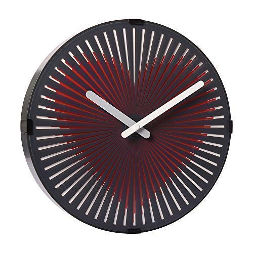 Wall Clock with Motion Heart Design 12-Inch Non-Ticking Quartz Modern Style Clocks for Office & Home Decor