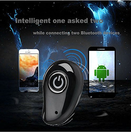 Hangang Mini Wireless Bluetooth earbud Hidden Headset With Large Battery Charging Box Earphones For apple iPhone 8 iPhone X,Samsung,iPad,Android phone (Single) by Hangang (Image #8)