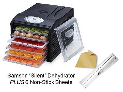 """Samson """"Silent"""" Dehydrator 6-Tray with Digital Controls PLUS"""