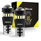 CAR ROVER 194 168 T10 192 2825 W5W LED Bulbs with Error Free Extremely Bright 3014 18-SMD Chipsets for Dome Map Courtesy Door License Plate Trunk Cargo Lights (6000K, Pack of 2)